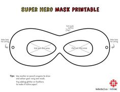 Make your own super awesome superhero mask! Incredibles Birthday Party, Superhero Birthday Party, Boy Birthday, Batman Party, Superhero Mask Template, Costume Carnaval, 5th Birthday Party Ideas, Mask For Kids, The Incredibles