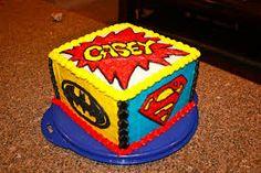 Easy superhero cakes
