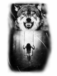 Lobo , tatuagem de lobo, Wolf