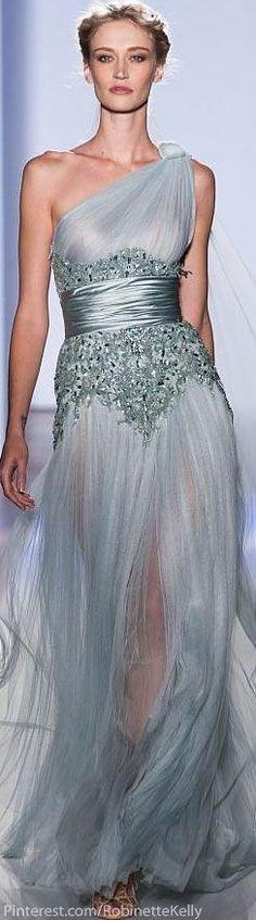 Modern fairytale / karen cox / Cinderella. Zuhair Murad Haute Couture Blue Gown |