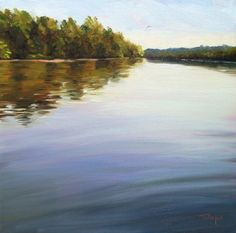River Reflections , painting by artist Takeyce Walter