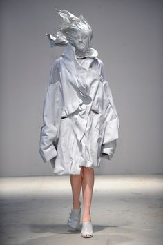 LCF BA graduate fashion collections Arzumanova, Wilson and Jiang collaborated to create this collection of objects frozen in time.