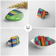 For #TheCreativeDay Lettera pSy. Geometric Wood Jewels: the shortest way between two points is a straight line, the most exciting is the colour!  Altri contatti: Shop: www.letterapsy.etsy.com FB: www.facebook.com/letterapsy #Pinterest: www.pinterest.com/letterapsy/