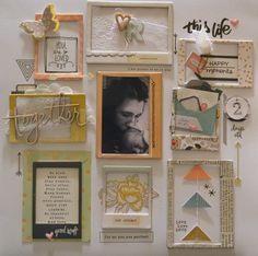 Scrapbook inspiration - create windows for journaling and embellishments