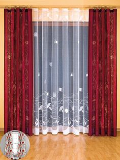 17 Stylish Curtains Design that Will Steal the Show - Top Inspirations Elegant Curtains, Modern Curtains, Colorful Curtains, Sheer Curtains, Red Curtains Living Room, Home Curtains, Curtain Styles, Curtain Designs, Curtain Ideas