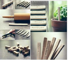 DIY markers for your herb garden
