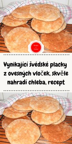 Vynikající švédské placky z ovesných vloček, skvěle nahradí chleba, recept Slovak Recipes, Cooking Recipes, Healthy Recipes, Bread And Pastries, A Table, Ham, Food And Drink, Health Fitness, Low Carb