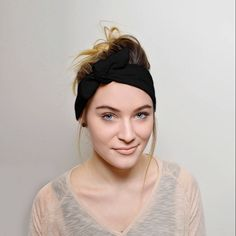 Black Headbands for women, Top Knot Headband Adult Women's Hair Accessories by MiyyoART on Etsy https://www.etsy.com/listing/521088520/black-headbands-for-women-top-knot