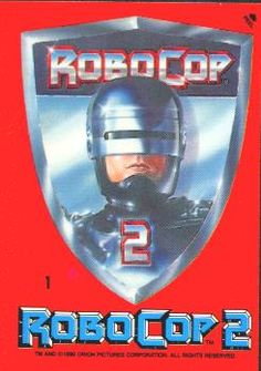 ROBOCOP 2 TRADING CARDS SET: 1990, Topps, Complete Set of 88 cards and 11 stickers, Average NM, plus both wax pack wrappers. All for $15