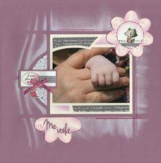 Baby Scrapbook, Scrapbook Pages, Photo Layouts, Scrapbook Designs, Unique Photo, Portrait Photo, Stencils, Diy And Crafts, 1
