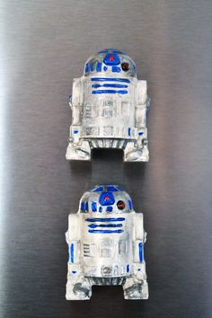R2-D2 polymer clay magnet