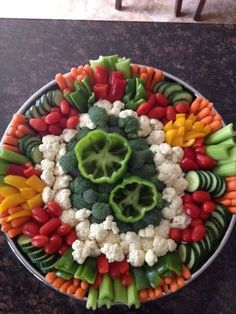 Image result for layout for giant oval veggie tray
