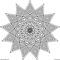 Geometric Coloring Pages - lots of pages to download, printout, and color on this site.