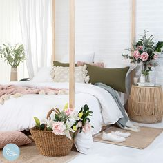 Your dreamy spring bedroom awaits with the addition of stunning pink and white artificial flowers. #artificialflowers #fakeflowers #imitationflowers #flowers #diyhomedecor #homedecor #diy #homestyle #homestyling #artificialflowerarranging #artificialflowerarrangement #flowerdecor Artificial Flower Arrangements, Artificial Flowers, Succulent Pots, Planting Succulents, Plastic Glass, Fake Flowers, Pillow Talk, Trees To Plant, Flower Decorations