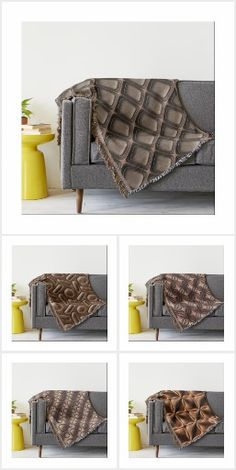 Cuddle up with a cozy contemporary pattern throw blanket. Aztec Tribal Patterns, Home Themes, Tribal Decor, Bed Covers, Cushions, Cozy, Colours, Throw Blankets, Storage