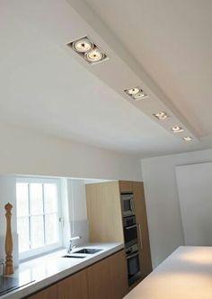 Bedroom False Ceiling Design, Ceiling Light Design, Apartment Interior Design, Kitchen Interior, Interior Lighting, Home Lighting, Lighting Design, Industrial Kitchen Design, Kitchen Lighting Fixtures