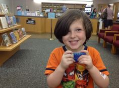 Brandon's First Library Card July 2013
