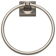 A beautiful pewter finish and craftsman details give this towel ring its great style.