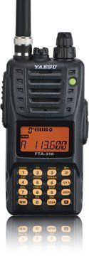 "Yeasu FTA-310 Handheld Transceiver w/NAV by Yeasu. $259.00. The Yaesu FTA-310 is a professional grade hand-held transceiver providing communication (transmit and receive) capability on the International Aircraft Communication Band (""COM"" band: 118 ~ 136.975 MHz), and it additionally provides VOR and CDI navigation features on the ""NAV"" band (108 ~ 117.975 MHz).   The FTA-310 boasts 700 mW of clean audio output from its 1.4"" (36-mm) diameter loudspeaker, and it also prov..."