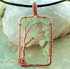Wirewrap tree...you have to sign up for their website to get the tutorial, but I'm going to just use the pic for inspiration :)