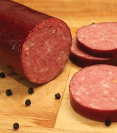 Learn how to make your own smoked venison summer sausage. Learn how to make your own smoked venison summer sausage. Venison Sausage Recipes, Homemade Sausage Recipes, Jerky Recipes, Smoked Venison Summer Sausage Recipe, Smoker Recipes, Healthy Soup Recipes, Deer Bologna Recipe, Bologna Recipes, Homemade Summer Sausage