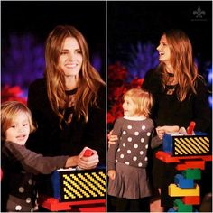 #StanaKatic & her niece at #LEGOLAND 's Tree Lighting Ceremony