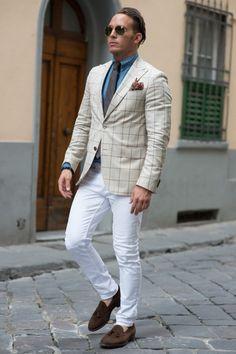 Men in white pants Follow Us : MenStyle1... | MenStyle1- Men's Style Blog