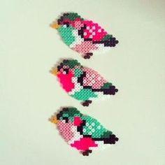 Birds hama perler beads by Camilla Drejer by JohnsonKathy