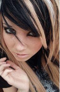 black hair blonde streaks   Streaked blond hair on blacks? It may seem a strange idea but in ...