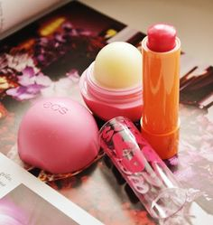 What every #lady #musthave in her purse.  Check out my #review about #eos and #maybelline #lipbalsams.   More info which of these i prefer most and where to #buy click a link bellow.   Any suggestions for a new #lipsbalm?
