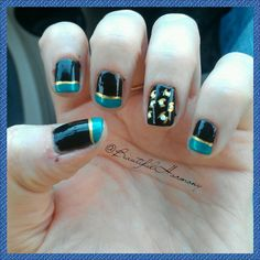 Two quick and easy designs to show your team spirit go jags jacksonville jaguars w polish prinsesfo Choice Image