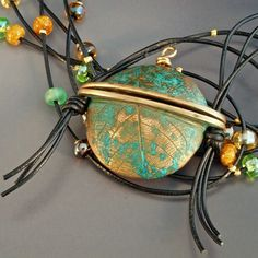 Handmade Bronze Jar Pendant by adornedbyrobin on Etsy