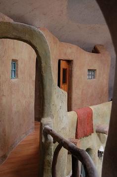 Adobe tones warm dome interior balcony