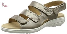 Hotter  Sophia, Sandales Bout ouvert femme - or - Gold (Nickle Metallic), 36.5 - Chaussures hotter (*Partner-Link)