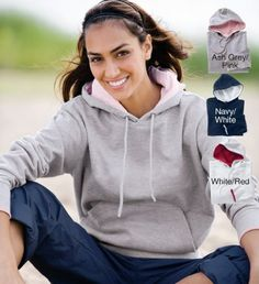 Women`s River`s End Tipped Pullover Hooded Sweatshirt