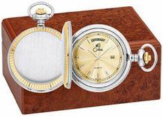 Colibri Silver and Gold Tone Day and Date Pocket Watch Colibri. $45.95
