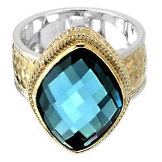 Anna Beck Wire Rimmed Blue Quartz Ring