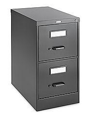 Vertical File Cabinet, 2 Drawer in black. We get a slight discount if we order in bulk.