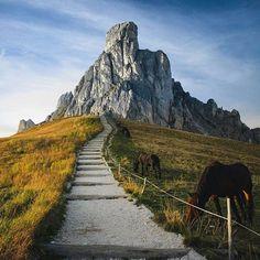 True beauty. Giau Pass, Italy. Photo by @jackharding #followmefaraway
