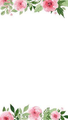Resultado de imagen para flowers aquarelle border for word Flower Backgrounds, Flower Wallpaper, Wallpaper Backgrounds, Iphone Wallpaper, Text Background, Deco Floral, Floral Border, Writing Paper, Flower Frame