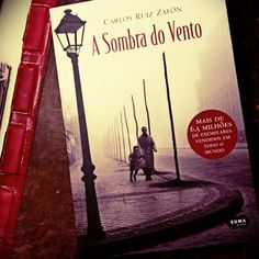 The best book in the world. I travelled in every page. Magnific! A Sombra do Vento - Carlos Ruiz Zafón