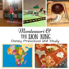 Disney Preschool Lesson Plan for the Lion King. Learning about African animals and culture in a Montessori preschool Lion King unit study.