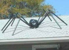 Make Giant Spiders for Halloween