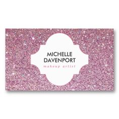 Fun colorful glitter beauty salon and boutique business card ideas pink glitter beauty makeup artist salon business card colourmoves Image collections