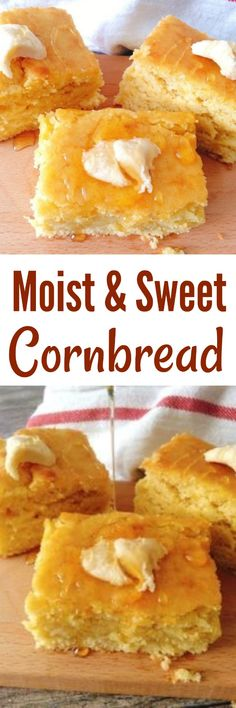 An Easy, moist, sweet cornbread recipe that is made from scratch! The best corn bread you'll ever bake! #cornbread #cornbreadrecipe #easycornbread #moistcornbread #sweetcornbread