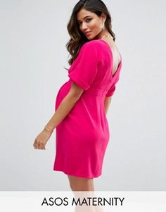 ASOS Maternity Smart Mini Dress with V Back