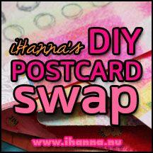 iHanna's DIY Postcard Swap - mixed media mail art fun! #mailart #swap