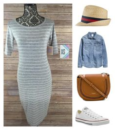 """""""#lularoewithjanella styles featuring the LuLaRoe Julia dress"""" by janella-proctor on Polyvore featuring Converse, Michael Kors, H&M and Gucci"""
