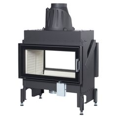 Double Sided Wood Burning Fireplace Insert With Blower | FIREPLACE ...
