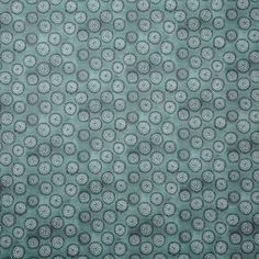Dotted Floral Fabric in Storm Blue